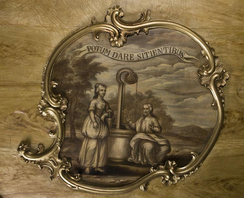2- Spragnionych napoić. Sklepienie sali portretowej.