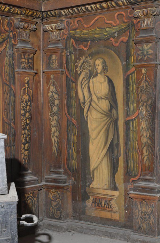 Abundantia (bogactwo, dostatek). Malowidło na szafie w sali klejnotowej.