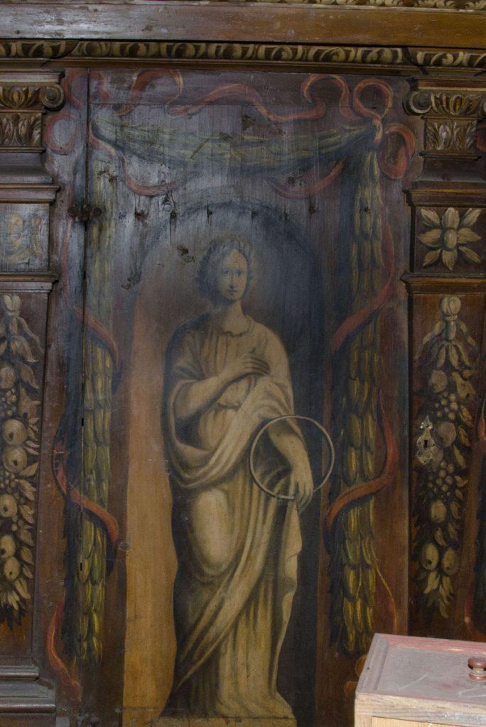 Aeternitas (wieczność). Malowidło na szafie w sali klejnotowej.