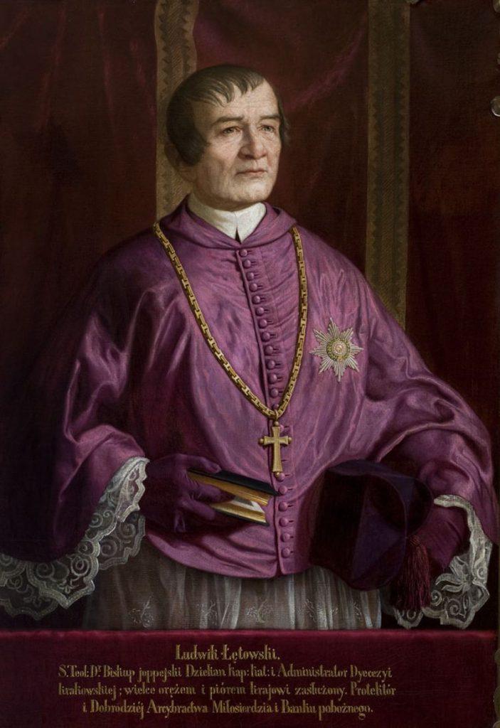 Biskup krakowski Ludwik Łętowski. Sala portretowa Arcybractwa Miłosierdzia.