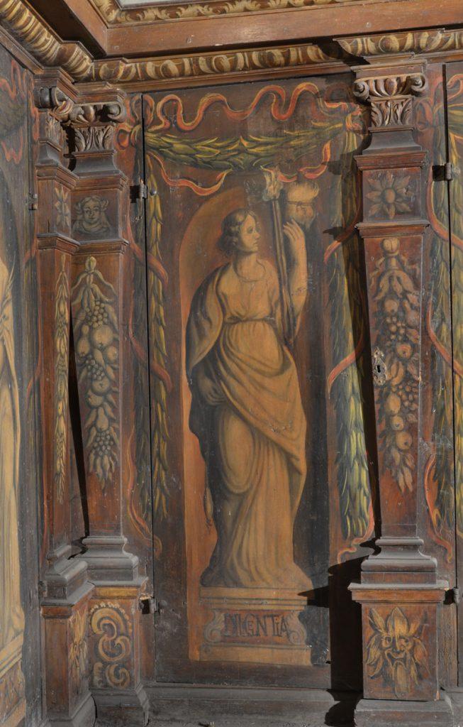 Diligentia (gorliwość, staranność, pilność). Malowidło na szafie w sali klejnotowej.