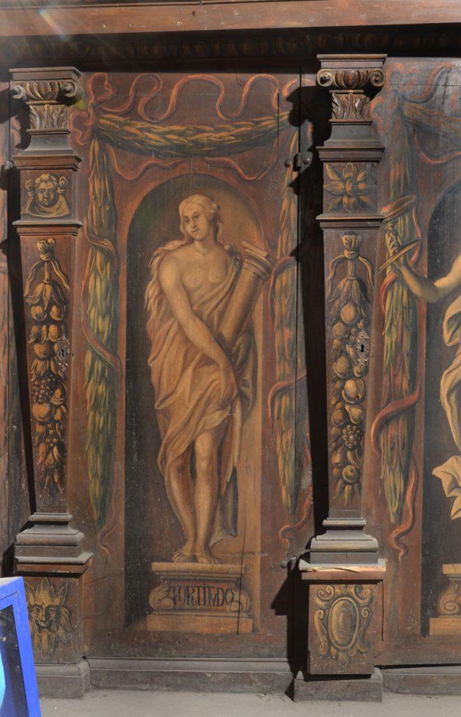 Fortitudo (męstwo). Malowidło na szafie w sali klejnotowej.