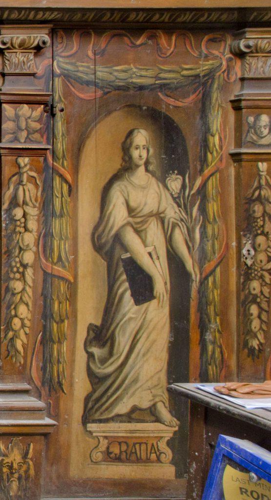 Gratia (łaska). Malowidło na szafie w sali klejnotowej.