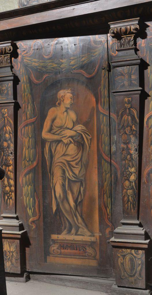 Humilitas (pokora). Malowidło na szafie w sali klejnotowej.