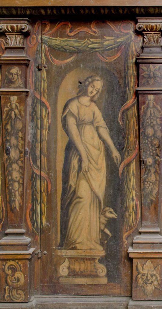 Innocentia (niewinność). Malowidło na szafie w sali klejnotowej.