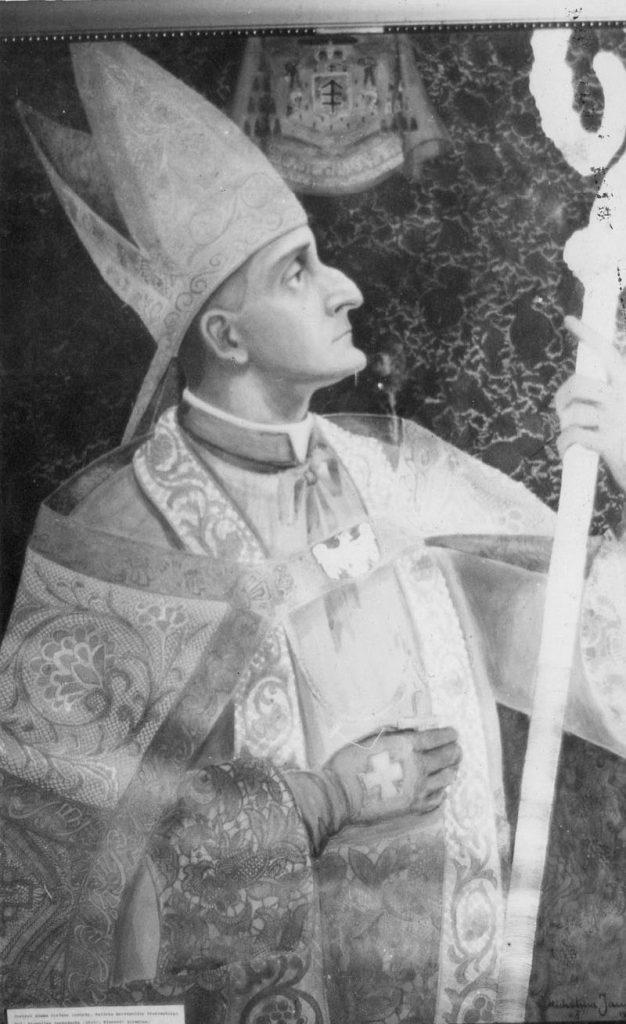 Książę metropolita krakowski Adam Stefan Sapieha. Fotografia portretu pędzla Michaliny Janoszanki. Zbiory prywatne.