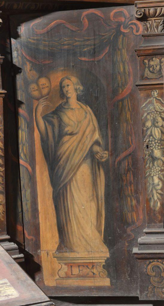 Lex (prawo). Malowidło na szafie w sali klejnotowej.