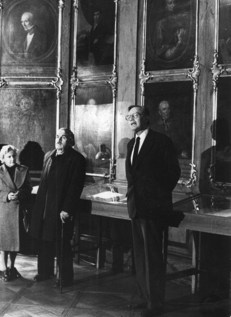 Otwarcie wystawy w sali portretowej w 400-lecie powstania Arcybractwa Miłosierdzia w 1984 r. Na pierwszym planie Andrzej Potocki, prezes Klubu Inteligencji Katolickiej.