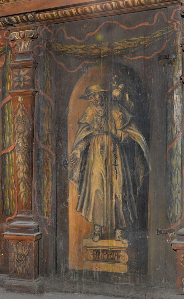Pauperitas (ubóstwo). Malowidło na szafie w sali klejnotowej.