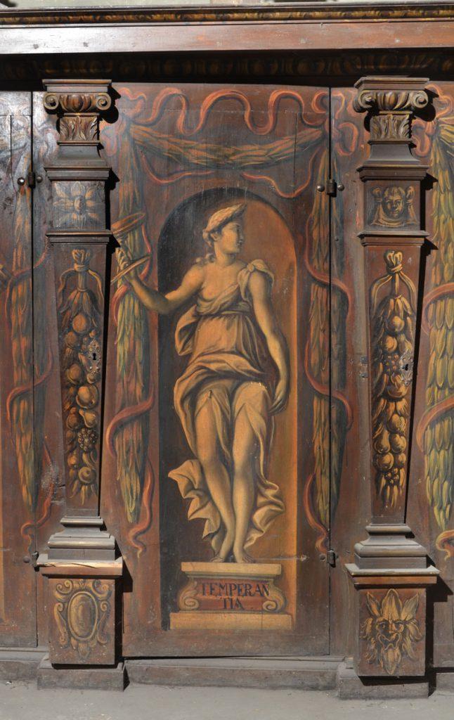 Temperantia (wstrzemięźliwość). Malowidło na szafie w sali klejnotowej.