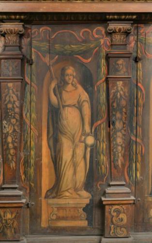 Fraus (oszustwo, podstęp). Malowidło na szafie w sali klejnotowej.