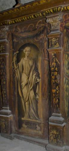 Prudentia (roztropność). Malowidło na szafie w sali klejnotowej.