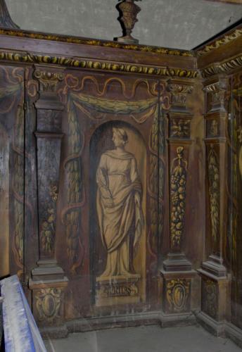 Veritas (prawda). Malowidło na szafie w sali klejnotowej.